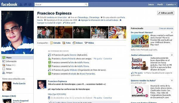 Faecebook Nueva Interfaz De Perfil