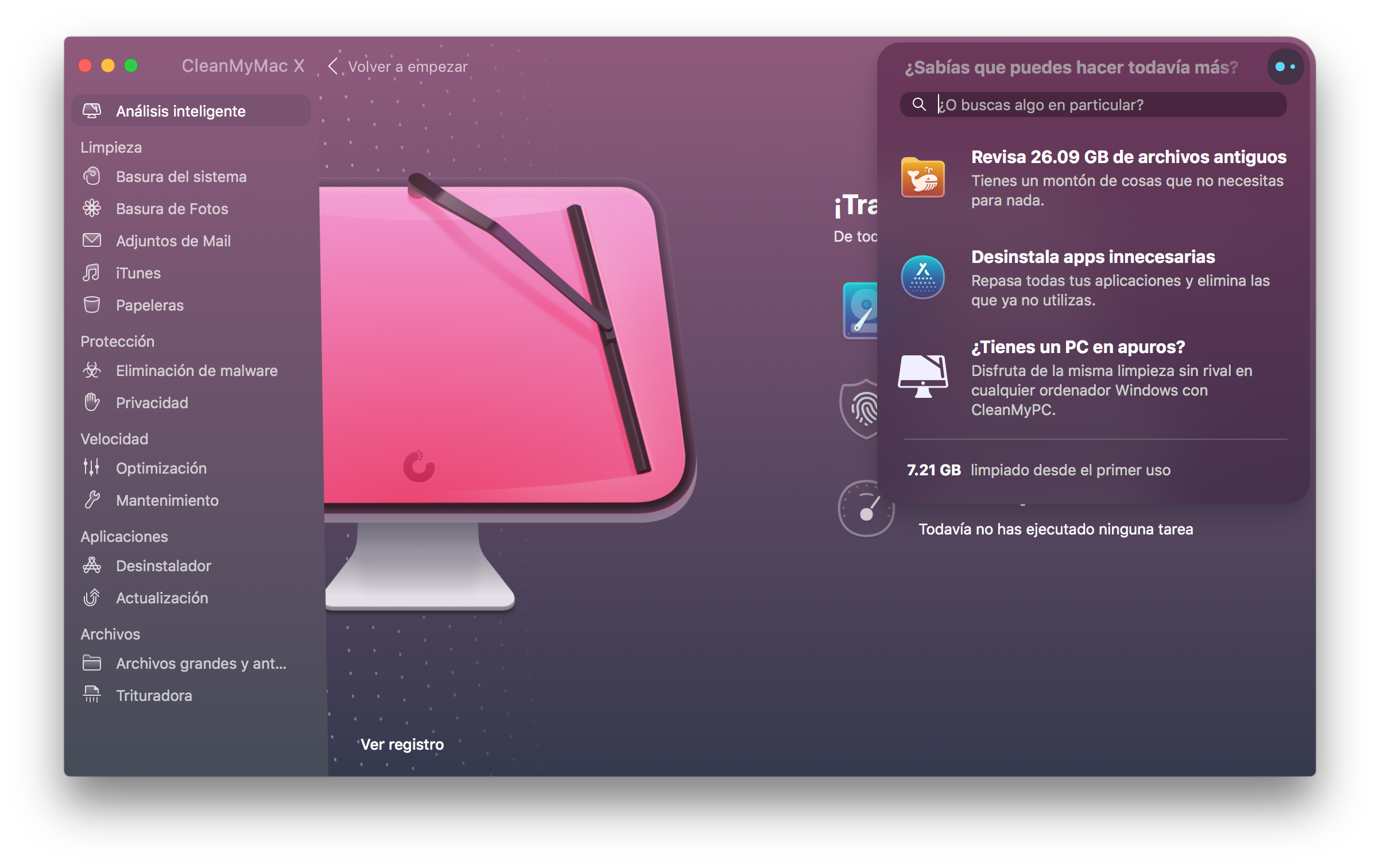 CleanMyMac X - Asistente