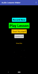 Audio Lesson Recorder