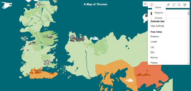 Map Of Thrones