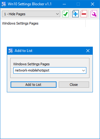 Win 10 Settings Blocker