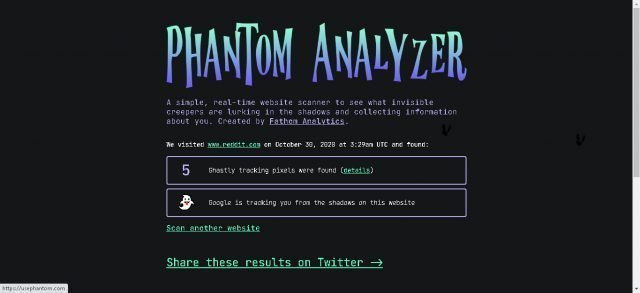 Resultados de Phantom Analyzer
