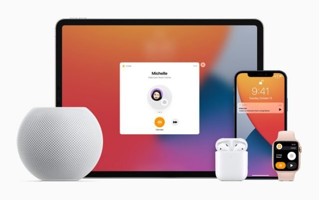 Productos de Apple: SmartWatch, iPhone, Airpods, iPad y HomePod mini