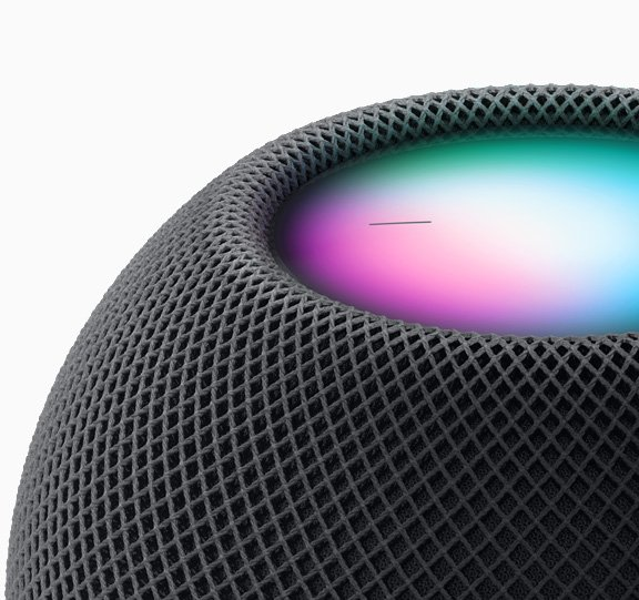 Capture del borde del HomePod mini