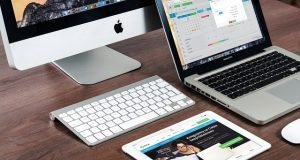Una iMac, MacBook y iPad de Apple