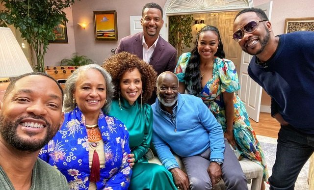 Familia Banks reunida para Fresh Prince of Bel Air