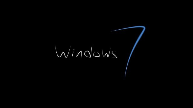 Protector de pantalla con la frase Windows 7