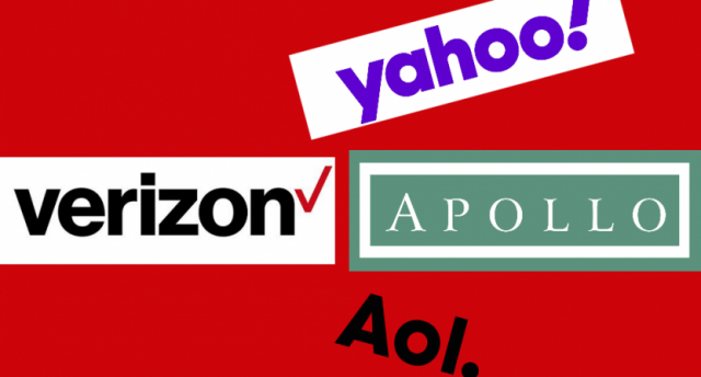 Ilustración de Yahoo, AOL, Verizon y Apollo