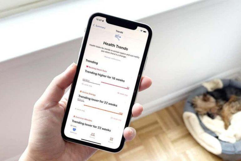 App de salud de iPhone.